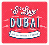 Vintage greeting card from Dubai - United Arab Emirates.
