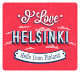 Vintage greeting card from Helsinki - Finland.