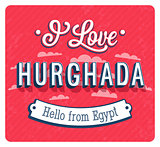 Vintage greeting card from Hurghada - Egypt.