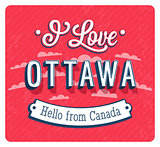Vintage greeting card from Ottawa - Canada.