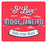 Vintage greeting card from Rio De Janeiro - Brazil.