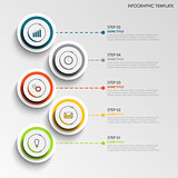 Info graphic with abstract design round labels template