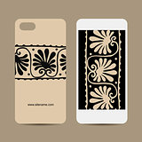 Mobile phone design, ethnic handmade ornament