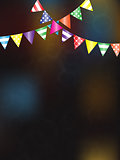 Festive background with flags for design
