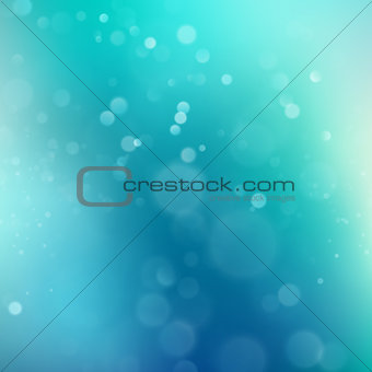 Abstract blue green bokeh background. EPS 10 vector