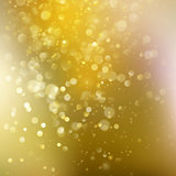 Gold background with defocused lights. EPS 10 vector