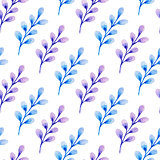 Pattern with blue branch