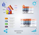 Set of vector design elements for infographic or presentation