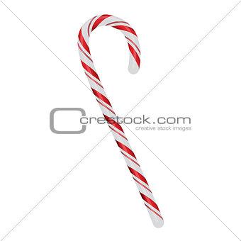 Christmas Candycane Isolated on White Illustration