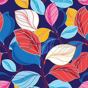 Autumn seamless color pattern