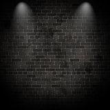 3D spotlights on a grunge brick wall