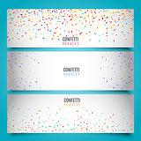 Confetti banners