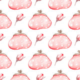 Seamless pattern with handbag