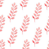 Pattern with pink branch