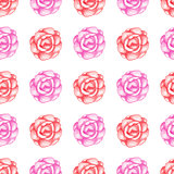 Pattern with red roses