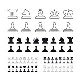 Chess set vector illustration on white background