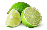 Several pieces of lime