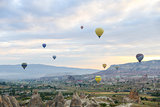 Hot Air Balloons in Cappadocia Valleys