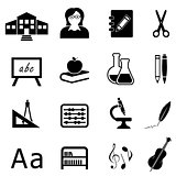 Education and back to school icon set