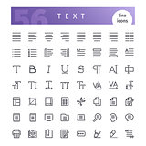 Text Line Icons Set