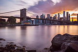 Manhattan Skyline Sunset
