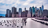 Dramatic Sky Manhattan Skyline