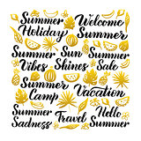 Summer Handwritten Lettering