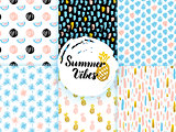 Summer Funky Seamless Patterns