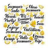 Summer Time Handwritten Lettering