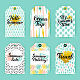 Summer Time Trendy Gift Labels