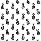 Pineapple Brush Seamless Pattern