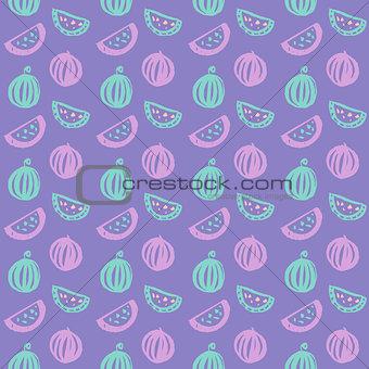 Watermelon Brush Seamless Pattern