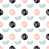 Watermelon Berry Seamless Pattern