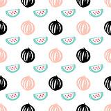 Watermelon Berry Seamless Pattern
