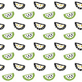Watermelon Slice Seamless Pattern