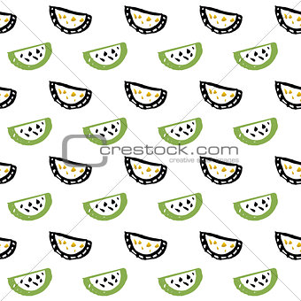 Watermelon Slice Seamless Pattern