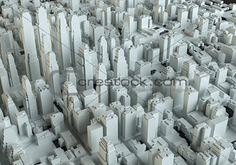 Aerial view of abstract city center