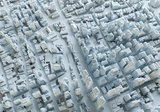 Beautiful city landscape. Abstract city from cubes