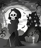 Black and white grim reaper theme 1