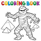 Coloring book ancient mummy