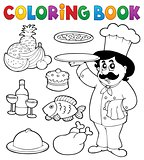 Coloring book chef theme 3