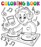 Coloring book DJ boy