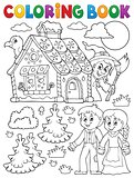 Coloring book Hansel and Gretel 1