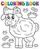 Coloring book happy ram