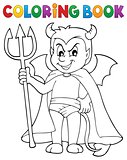 Coloring book little devil