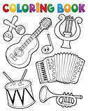 Coloring book music instruments 1