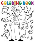 Coloring book music maestro