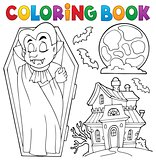 Coloring book vampire theme 3