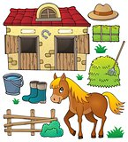 Horse and related objects theme set