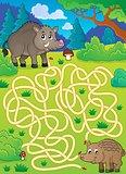 Maze 29 with wild pigs
